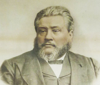 Spurgeon portrait at Earls Colne Baptist Church, with the inscription, 'from your grateful friend'  Photo taken from Clive Anderson, Travel with C. H. Spurgeon
